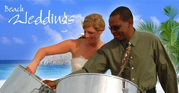 Steel Drum Player at Beach Wedding