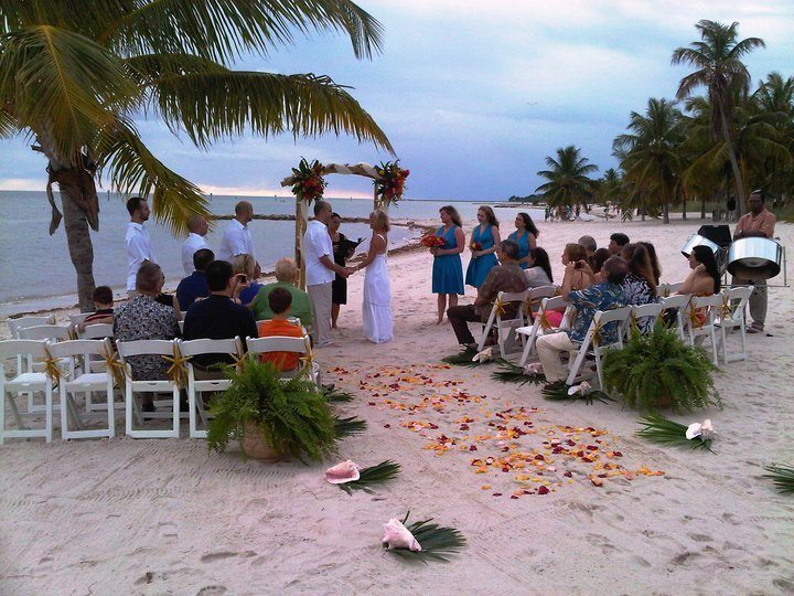 RythmTrail Steel Drum Player at Beach Wedding Ceremony in Key West Florida